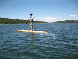 Randy Bogardus on his Stand Up Paddleboard