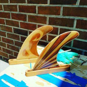 Rory Sheldon handmade paddleboard fins