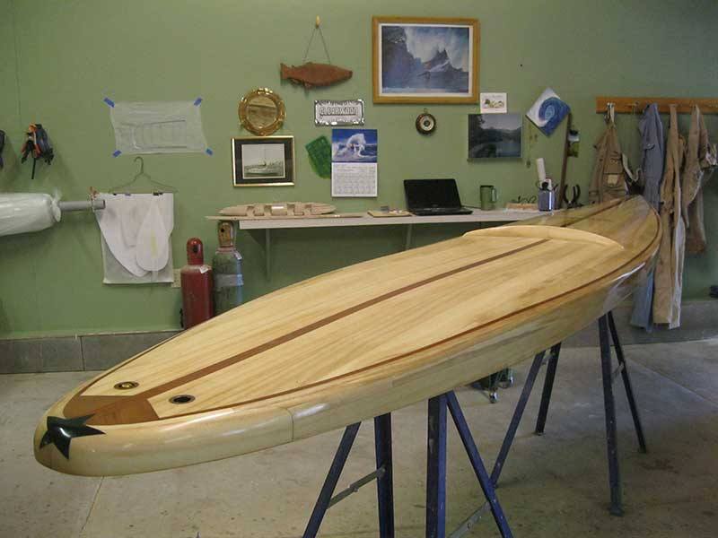 Photo Gallery Of Strip Plank Built Paddleboards And Surfboards