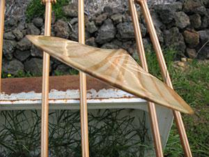 handmade wood paddle blade