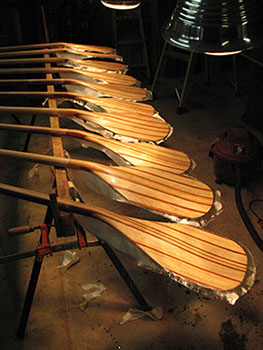 handmade wood paddles