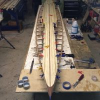 building a strip planked paddleboard