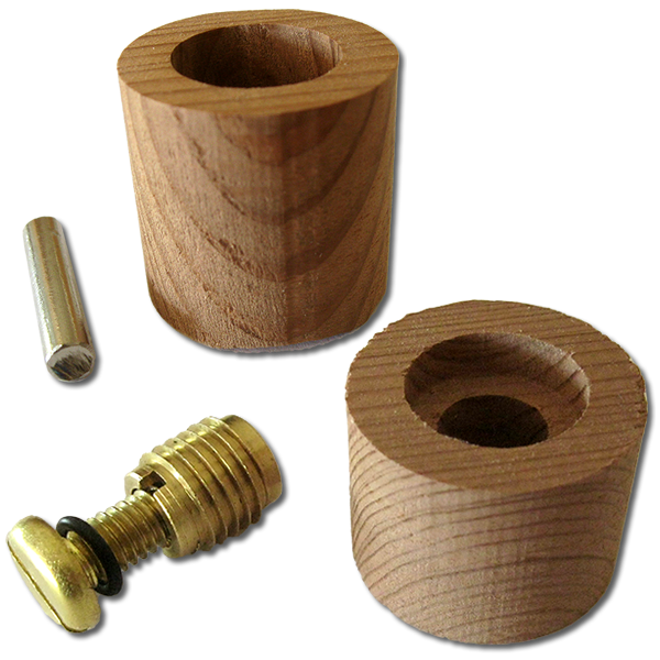 Wood Leash Plugs & Vent Body sets